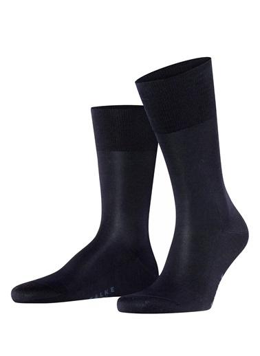 Falke Falke 101645161 Logo Baskılı Jakarlı Pamuk Koyu Erkek Çorap Lacivert